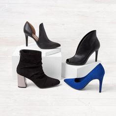 We've got options! Shop Payless for a large selection of women's pumps, heels, and wedges for every occasion. Shoes for special occasions. Elite Clothing, Dress And Heels, Dress Shoes, On Shoes, Shoes Heels, Blue Heels, Christian Siriano, Affordable Fashion, Women's Pumps