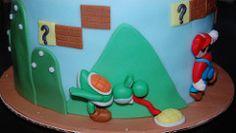 yoshi! (Love And Sprinkles) Tags: plant cake bowser mario luigi yoshi videogamecake supermario fondant