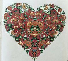 Heart Secret Garden Coracao Jardim Secreto Johanna Basford