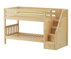 ★ Buy Maxtrix STACKER Low Bunk Beds with stairs in Twin and Full sizes ★ STACKER and DAPPER Model bunk beds from Maxtrix Kids ★ Wide Selection of Maxtrix childrens loft beds and teen beds at Kids Furniture Warehouse.