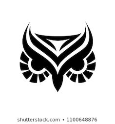 Owl outlined head tattoo style for your project Tribal Owl Tattoos, Tribal Art, Tribal Band Tattoo, Tattoo Sketches, Tattoo Drawings, Art Drawings, Head Tattoos, Body Art Tattoos, Owl Outline