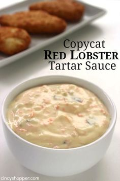 Copycat Red Lobster Tartar Sauce perfect with your fried fish dishes shrimp or any seafood dish that you like to dip Save s and make this favorite at home Lobster Recipes, Fish Recipes, Seafood Recipes, Cooking Recipes, Red Lobster Tarter Sauce Recipe, Tater Sauce Recipe, Easy Tartar Sauce, Lobster Sauce, Seafood