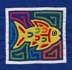 Adorable, Hand Sewn Fish Mola Mini  by molamama on Etsy, $14.50