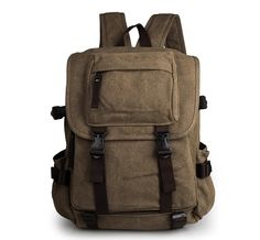 81.30$  Watch now - http://aliq28.worldwells.pw/go.php?t=32519139091 - Cheap Durable Canvas Laptop Backpack Coffee Shoulders Bag # 9023C
