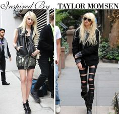 Taylor Momsen in an edgy glam look.