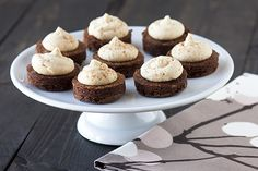 Fudgy Espresso Brownie Bites with Kahlua Buttercream are the perfect party treat - they'll be gone in minutes and everyone will be dying for the recipe!