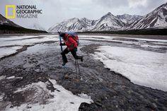 Andrew Skurka trekking across Alaska