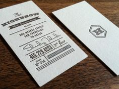 Business cards for Highbrow Men's Grooming Lounge by Ian Vadas.