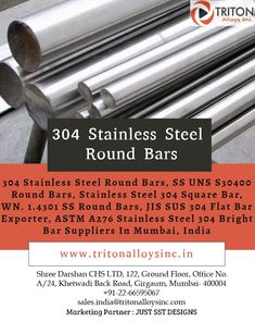 Triton Alloys Inc is industrial 304 Stainless Steel Round Bar manufacturers in india, We are Specialist & One of the oldest Stockist and Supplier of SS UNS S30400 Round Bars, SUS 304 Flat Bar Exporter in India. For more details please contact: Email: sales.india@tritonalloysinc.com Phone: +91-22-66363383 #304stainlessSteelRoundBar #stainlesssteelroundbar #roundbar #stainlesssteel #steel #mumbai #india #malysia #southafrica #thailand #exporter #suppliers #manufacturers #metals