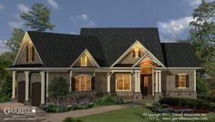 Westbrooks II Cottage House Plan 11117 G, Front Elevation, Craftsman, Mountain Style House Plans