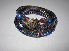 finished leather wrap bracelet