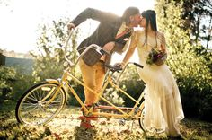 Bride and Groom, styling a stingray tandem