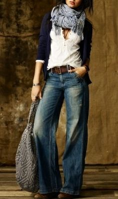 23 new Ideas for moda casual femenina botas Looks Style, Looks Cool, Style Me, Trendy Style, Mode Outfits, Fall Outfits, Casual Outfits, Casual Jeans, Denim Jeans