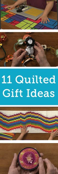 Sometimes, we all need a little break from quilting. It's easy to get lost in projects, and every once and a while it's good to flex your creative muscles and make something a little different. Not all quilting projects have to be quilts! If you're looking for a creative way to use your quilting skills, try out one of these project ideas – they make great gifts and are so much fun to create.