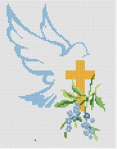 Christian cross stitch suitable for Easter projects.