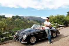 Adam Levine's Hollywood Hills HomeCELEBRITY STYLE Adam Levine's Hollywood Hills Home The Maroon 5 front man's California pad combines midcentury sophistication with a shot of bachelor attitude Adam Levine, Maroon 5, Porsche Rs, Porsche 356 Speedster, Porsche 356a, Porsche Roadster, Singer Porsche, Celebrity Cars, Celebrity Houses