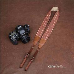 polka dot camera strap