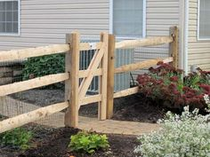 Split Rail Gate: 3 Rail with welded wire