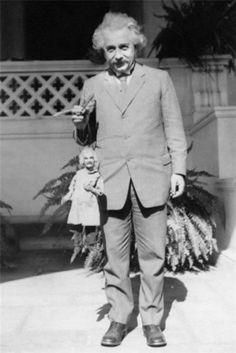 Albert Einstein Holding an Albert Einstein Puppet, 1931 : OldSchoolCool