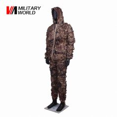 Outdoor Shooting Hunting Ghillie Suits Long Jacket+Pants Airsoft Military Tactical Leaf Camouflage Coat Trousers Uniform Clothes