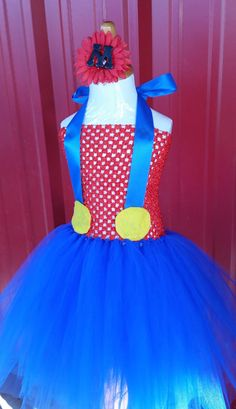 Check out this item in my Etsy shop https://www.etsy.com/listing/200770484/mario-inspired-tutu-dress-costume-mario