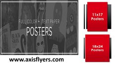 AxisFlyers one of the top trusted online Poster Printing Company in USA. We Offer full colour poster printing, different sizes and quantities with low rates. If you do not see the type of poster printing you are looking for, please call us 305-231-7994. Read More: http://www.axisflyers.com/Poster-printing-s/2.htm