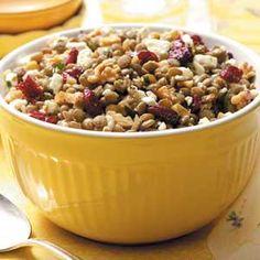Feta-Cranberry Lentil Salad Recipe