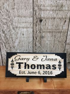 Engraved wedding sign by Rustic Decor Treasures.