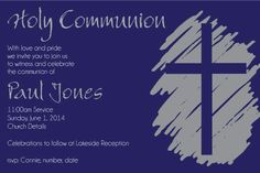First Communion Invitation Templates