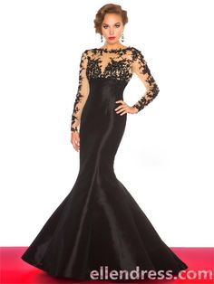 Trumpet/Mermaid Bateau Long Floor-length Taffeta Evening Dress