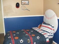 boys rooms sports decorating ideas | Sports Themed Boys Bedroom Ideas | RafterTales | Home Improvement Made ...