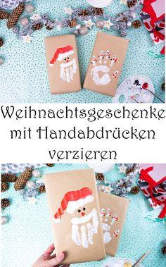 Weihnachtsgeschenke verpacken - 6 niedliche Ideen - Geschenke verpacken mit Packpapier zu Weihnachten - für Kinder und mit Kindern basteln