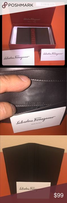 Authentic Salvatore Ferragamo card wallet Gray made in Italy credit card wallet Salvatore Ferragamo Accessories Key & Card Holders