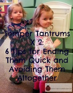 Temper Tantrums X 2: 6 Tips and Tricks For Ending Them Quick or Avoiding Them Altogether   My Twin Ladybugs