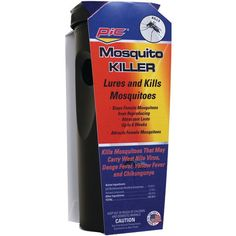 PIC CYL-MOS Mosquito Trap & Kill • Traps & kills Asian tiger mosquito & others • Uses advanced US Military technology to lure mosquitos • Child-resistant design • For outdoor use only • Attractant las