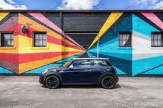 MINI in Denver | Mini Cooper | MINI | cars | car photography | Denver skyline | Denver | Colorado | the mile high city | RiNo Denver | Denver Street Art | Street Art | rocky mountains | dream car | miniac | Schomp MINI | an original @Schomp MINI pin