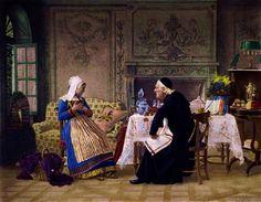 Jehan Georges Vibert (1840-1902) — Confession (872x689)