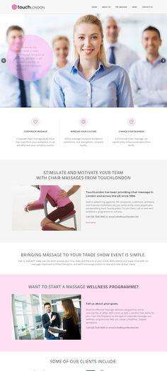WordPress site touchlondon.biz uses the Durus wordpress website template