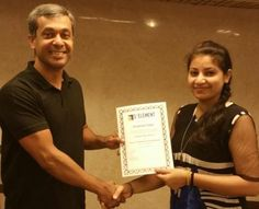 Congratulations Anushree Tiwari - Being awarded the Prestigious NLP Practitioner certificate  NLP Training from Anil Dagia - India's Most Innovative NLP Trainer  Attend the next World's 1st ICF + NLP Dual Certification Life Coach Training in Mumbai (India) - 4 Apr :- http://www.anildagia.com/events/256