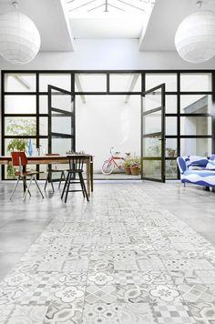 1000 ideas about imitation carreaux de ciment on pinterest maison d hote - Sol vinyle imitation carreau de ciment ...