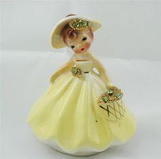 Vintage Josef's Original Yellow Girl Figurine MINT