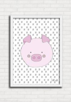 Poster p/ Criança Pig - Suh Riediger TO8249