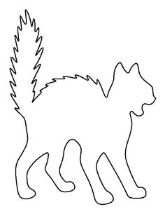 Use the printable outline for crafts, creating stencils, scrapbooking, and more. Moldes Halloween, Adornos Halloween, Manualidades Halloween, Halloween Cat, Halloween Stencils, Halloween Templates, Halloween Printable, Cat Template, Templates Printable Free
