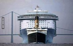 The Titanic compared to a modern Cruise Ship - 9GAG