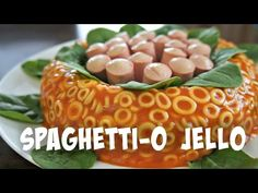 SpaghettiO Jello Mold Retro Recipe | You Made What?! - YouTube (This will never be made in my kitchen)