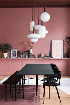 Ferm Living have decorated a classic, old apartment in Amagertorv, Copenhagen. Ferm Living Home interiors home decor pink Peach decor. Picture accessories Scandi design modern on trend Scandinavian Decor Interior Design, Interior Decorating, Home Interior Colors, Colorful Interior Design, Contemporary Interior, Interior Styling, Deco Rose, Turbulence Deco, Dining Room Lighting