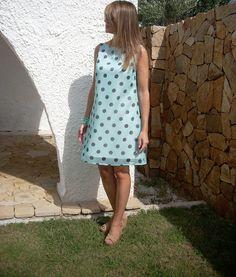 Abito+svasato+smanicato+verdino+pois+di+MelinaECris+su+DaWanda.com Polka Dot Top, Summer Dresses, Women, Fashion, Moda, Sundresses, Women's, La Mode, Fasion