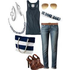 """Navy and lia sophia"" by jade-illeck on Polyvore"