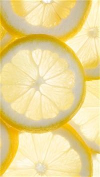 Fresh Cool Lemon Slice Overlap Background iPhone 6 wallpaper