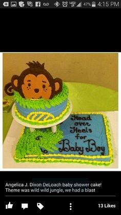 Jellies baby shower cake